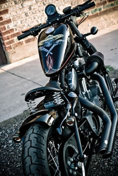 Blacked out Sportster