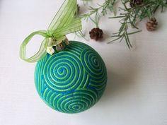 Polymer Clay Christmas Ornament decoration by FlowertownOriginals, $14.00
