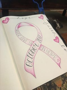 My October 17 bullet journal theme is for all the sheroes fighting the good fight against breast cancer! #bulletjournal