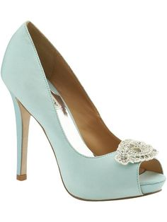 Jimmy Choo metallic blue pumps, perfect wedding shoes!
