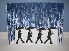 "The Beatles ""Rain"" - Melted Crayon Artwork  Available on Etsy for $28.00"