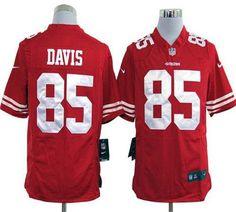 NFL Jersey's Mens San Francisco 49ers Vernon Davis Nike White Elite Jersey