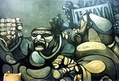 Ricardo Carpani, un militante revolucionario de la pintura argentina Arte Popular, Portrait, Painting, Fictional Characters, Color, Magdalena, Llamas, Ideas, Brush Pen