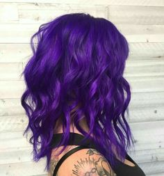 purple hair Online Scheduling for Salons and Spas. Bright Purple Hair, Violet Hair Colors, Cute Hair Colors, Beautiful Hair Color, Hair Color Purple, Hair Dye Colors, Pastel Hair, Cool Hair Color, Bright Colored Hair