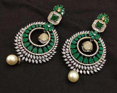 American Diamond Earrings in Chandbali Pendant Indian jewellery style Etsy Jewelry, Boho Jewelry, Wedding Jewelry, Women Jewelry, Fashion Jewelry, American Diamond Jewellery, Diamond Earrings, Diamond Jewelry, Jewelry Illustration
