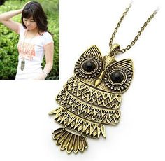New Lady Women Vintage Silver Owl Pendant Necklace best Gift For XMAS. FREE - Just pay shipping