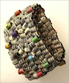 Holly Ann Mitchell Museum bracelet made from expired coupons.