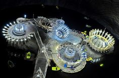 This massive underground salt mine now holds a sci-fi theme park in its depths