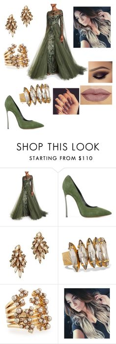 """""""Untitled #2618"""" by vanessa898 ❤ liked on Polyvore featuring Monique Lhuillier, Casadei, Elizabeth Cole and Lulu Frost"""