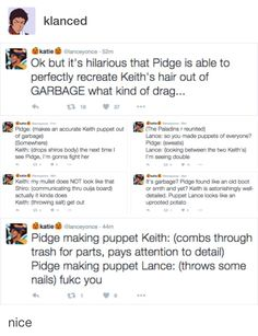 The accuracy of Keith's puppet is amazing