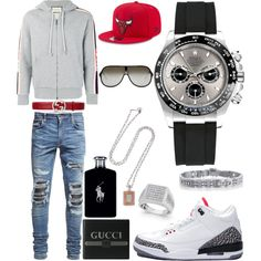 A fashion look from November 2017 featuring engraved mens watches, mens cotton hoodies and mens lace up ankle boots. Browse and shop related looks. Teen Boy Fashion, Big Men Fashion, Tomboy Fashion, Look Fashion, Fashion Outfits, Teen Swag Outfits, Dope Outfits For Guys, Stylish Mens Outfits, Jordan Outfits