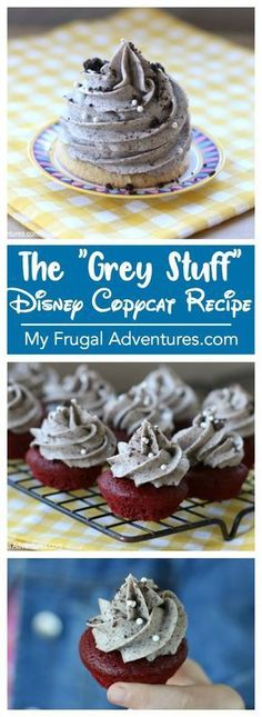 The Grey Stuff recipe from Disneyland. The Grey Stuff is from Beauty and the Bea… The Grey Stuff recipe from Disneyland. The Grey Stuff is from Beauty and the Beast and is a perfect treat for Disney fans. Disney Desserts, Köstliche Desserts, Delicious Desserts, Dessert Recipes, Disney Recipes, Disney Cupcakes, French Desserts, Cake Recipes, Disney Snacks