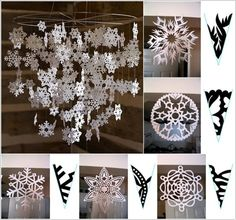 Dekoráció ötletek papír hópelyhekből