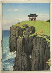 "Kawase Hasui   Japanese, 1883-1957, Chongsokjong, Kyongju, from the series ""Eight Views of Korea"" (Chosen hakkei, Keishu Sosekitei)"