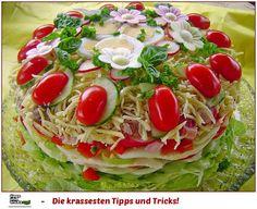 Party - Salattorte Blickfang auf jeder Feier