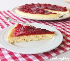 Cooking: Iogurtecake with cherry compote