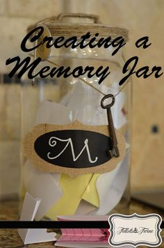 DIY Family Memory Jar. Write notes from everyone to send with them when they move.