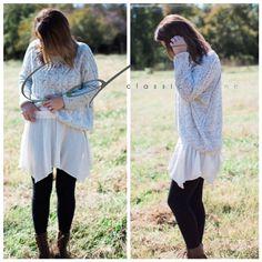 Shirt Extender Off White Asymmetrical
