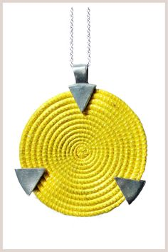 Woven Circle Pendant - fair trade.