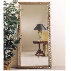 Amazon.com: Bassett Mirror Silver Leaf Beaded Bevel Leaner Mirror 6357-076: Home & Kitchen