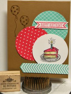 Stampin' Up!, BJ Peters, Sketched Birthday!  New 2013-2014 Catalog is HERE!   Check out these new In Colors and the updated DSP paper stack patterns.  Love that Stampin' Up! is so on trend!