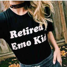 retired emo kid tumblr shirt hipster grunge instagram T shirt aesthetic t shirt Casual tops moletom do tumblr t shirt tees -in T-Shirts from Women's Clothing & Accessories on Aliexpress.com   Alibaba Group