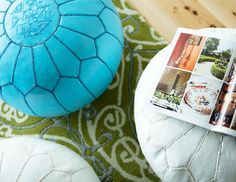 I pinned this from the Isabella Ottoman - Moroccan-Inspired Poufs event at Joss & Main!
