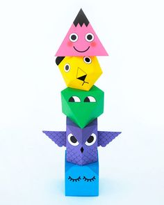 Geo-paper-totem-minieco-DIY-craft-activite-enfant-kids-doolittle-rocket-lulu2
