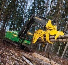 John Deere Feller Buncher Woods Equipment, John Deere Equipment, Logging Equipment, Heavy Equipment, Log Projects, Firewood Logs, Shocking Facts, Engin, Caterpillar
