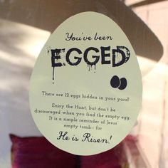 Easter:  We Talk of Christ, We Rejoice In Christ: We've Been EGGED!