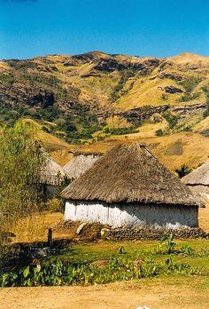 """Vila de Navala"". * Ilha de Viti Levu * Ilhas Fiji."