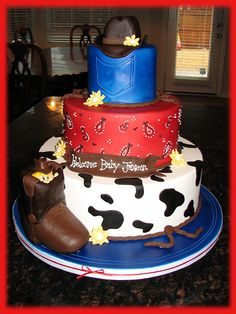 Baby shower cake (my sister is a cowgirl)