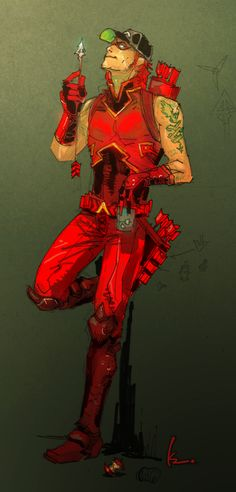 Arsenal by [DCNü] Red Hood and the Outlaws by Kenneth Rocafort