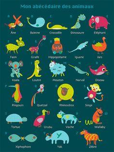 Mon abécédaire des animaux by Rebecca Galera - L'Affiche Moderne by L'Affiche Moderne, via Flickr