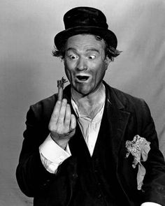 Red Skelton. I had him on my flight to Minot, ND many years ago. We had a mechanical delay and he performed in the gate area to keep the passengers entertained. After we got to Minot he stopped by the cockpit to say thanks for the safe flight and God bless! What a class act he was.
