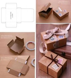 Diy gift box from cardboard Diy And Crafts, Paper Crafts, Diy Box, Diy Paper Box, Diy Birthday, Box Packaging, Diy Gifts, Wrap Gifts, Gift Wrap Box