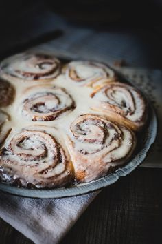 Cinnamon Rose Buns with Creme Fraiche Icing | Beth Kirby for Design Sponge
