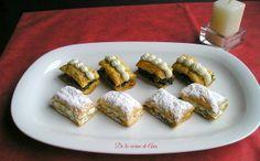 Bocaditos de Hojaldre, con Crema de Roquefort y con Espinacas