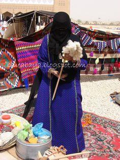 Blue Abaya: Bedouin Patients - millainen värttinä? Millainen kehruutekniikka?