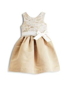 Kleinfeld Pink Girls' Morgan Rose Embossed Dress - Sizes 2T-4T | Bloomingdales's