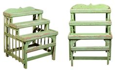 Vintage conservancy stands would be a simple enough DIY project