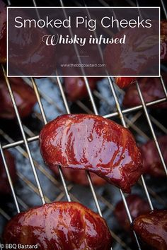 Your bucket list might be getting big. Though these smoked pork cheeks have a tendency to get on top of the list! Beware if you can& handle this! Smoker Recipes, Pork Recipes, Egg Recipes, Pulled Pork Shoulder, A Food, Good Food, Food News, Pork Cheeks, Gourmet