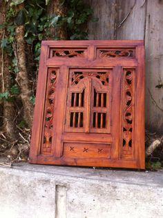Vintage Indian wooden Jharokha frame Indian decor by BETOSVINTAGE