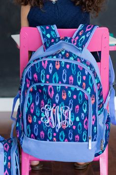 Head back to school in style with durable, personalized backpacks. Choose from one of 9 cute pattern options for girls or boys. Each backpack is made of easy-to-clean, polyester and features adjustable comfort fit shoulder straps, a padded tablet/laptop compartment, lined interior, and 3 large storage compartments. These custom book bags can be ordered here: http://www.tippytoad.com/personalized-school-backpacks.asp