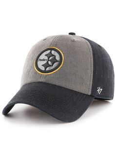 Pittsburgh Steelers '47 Mens Black Encoder Franchise Fitted Hat