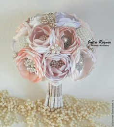 """Bride's bouquet / Свадебные цветы ручной работы. Ярмарка Мастеров - ручная работа. Купить Свадебный брошь букет невесты """"Лавандовый"""". Handmade."""