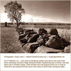 Cemetery Ridge during the Battle of  Gettysburg