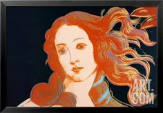Details of Boticelli's Birth of Venus, c.1984 Framed Art Print by Andy Warhol at Art.com