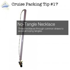 what to pack for a cruise - Necklace Tangles