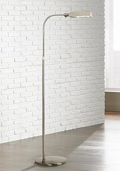 Sonneman Satin Nickel Tenda Pharmacy Adjustable Floor Lamp